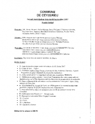 Compte-rendu du conseil municipal du 1er septembre 2017