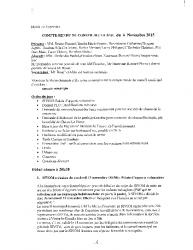 Compte-rendu du conseil municipal du 6 novembre 2015