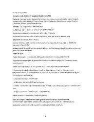 Compte-rendu du conseil municipal du 27 mars 2015 :