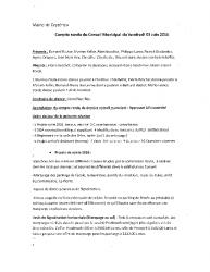 Compte-rendu du conseil municipal du 3 juin 2016