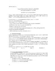 Compte-rendu du conseil municipal du 1er juillet 2016