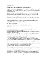 Compte-rendu du conseil municipal du 7 mai 2015