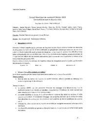 Compte-rendu du conseil municipal du 6 février 2015
