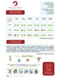 Affiche horaires dechetterie 2020