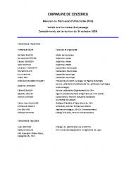 Cr du 14 Octobre 2019 – Ceyzérieu – PLU