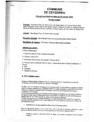 Compte-rendu du conseil municipal du 04 Janvier 2019