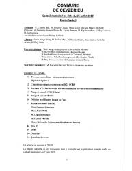 Compte-rendu du conseil municipal du 05 Juillet 2019