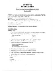 Compte-rendu du conseil municipal du 06 Décembre 2019