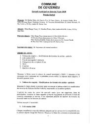 Compte-rendu du conseil municipal du 07 Juin 2019