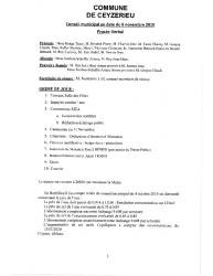 Compte-rendu du conseil municipal du 08 Novembre 2019
