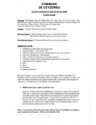 Compte-rendu du conseil municipal du 10 Mai 2019