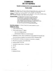 Compte-rendu du conseil municipal du 13 Septembre 2019