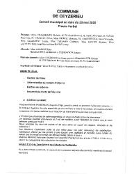 CR CM du 23 mai 2020